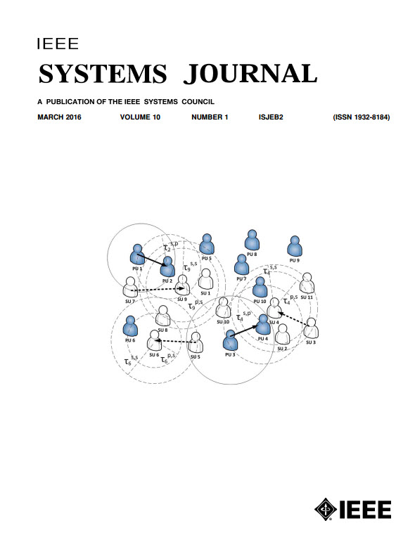 Image of Mar 2016 IEEE Systems Journal